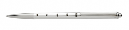 Sterling Silver Slim Ballpoint Pen  With  Large Display Hallmarks